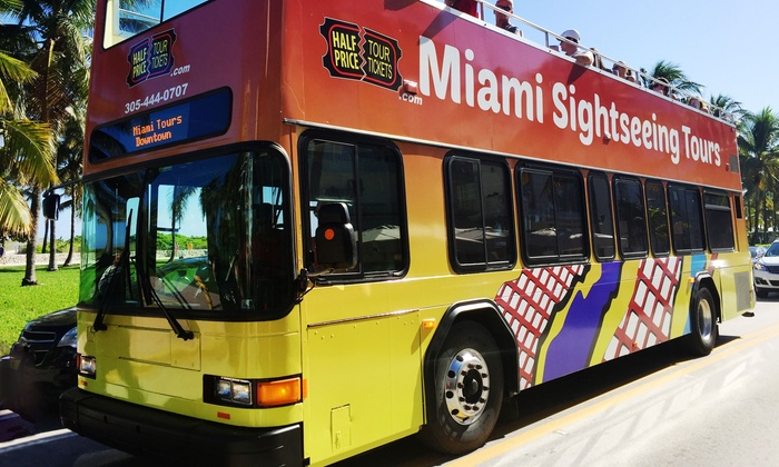 Miami Sightseeing Tours - South Beach: Miami Sightseeing Double-Decker Tour and Miami Boat Tour from Miami Sightseeing Tours (Up to 60% Off)