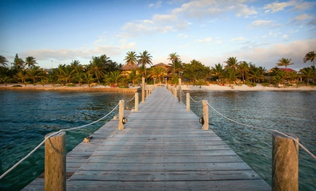 Beachside Cabanas on Belizean Island