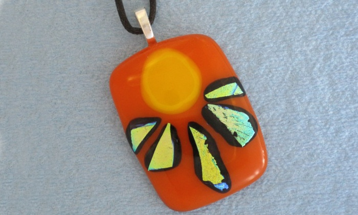 Danielle's Glass Fusing and Contemporary Ceramics Studio - Langford: 90-Minute Introduction to Fused Glass Jewelry Class for One, Two, or Four (Up to 51% Off)