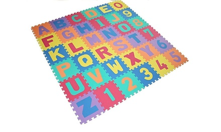 One, Two or Three 36 Piece Alphanumeric Playground Puzzle Mats