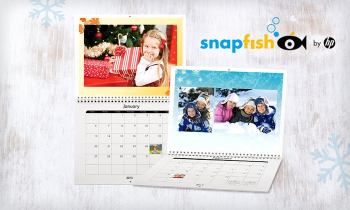 "Snapfish Custom Photo Calendar: Classic Wall 8.5""x11"" 12-Month Calendar from Snapfish (Up to 68% Off). Three Options Available. Free Shipping."