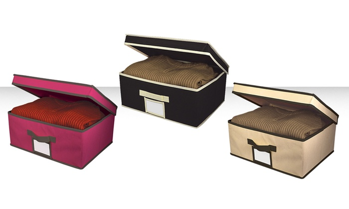 Wonderful Fabric Storage Box With Lid: Fabric Storage Boxes With Hinged Lids.