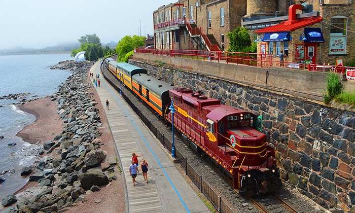 North Shore Scenic Railroad - Duluth: The Duluth Zephyr Excursion Train Ride or Music & Pizza Train Ride at North Shore Scenic Railroad (Up to 55% Off)