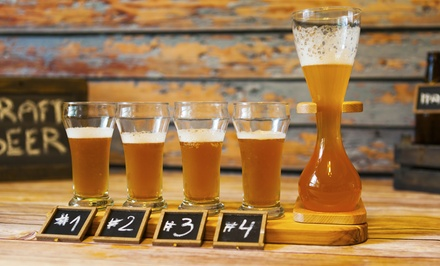 Craft-Beer Tasting and Tour for One or Two with Appetizers from NightLife Transport (Up to 51% Off)