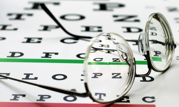 Jury, Farrar & Associates - Liberal: Vision Exam with Optomap Digital Retinal Scan or $100 Toward Eyewear at Jury, Farrar & Associates (Up to 82% Off)