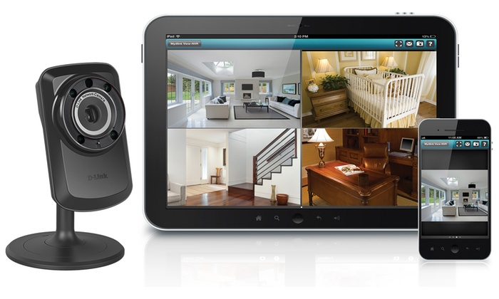 d link dcs 934l day night wifi surveillance camera with remote viewing groupon. Black Bedroom Furniture Sets. Home Design Ideas