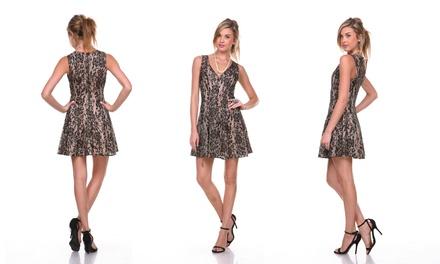 Women's V-Neck Lace Cocktail Dress