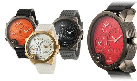 Bernoulli Chimera Men's Three-Time-Zone Watch