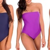 Dippin' Daisy's Solid Strapless Bandeau One Piece