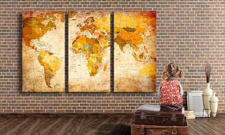 Mapa lienzo a elegir entre 50 diseños desde 24,90 €