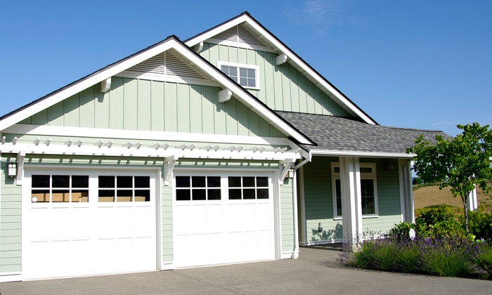Garage door inspection tune up dependable garage door for Cost to build a double car garage