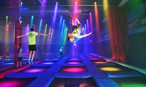 Defy Gravity - Omaha: Two, Four, or Eight Groupons, Each Good for One 60-Minute Jump at Defy Gravity - Omaha (Up to 44% Off)
