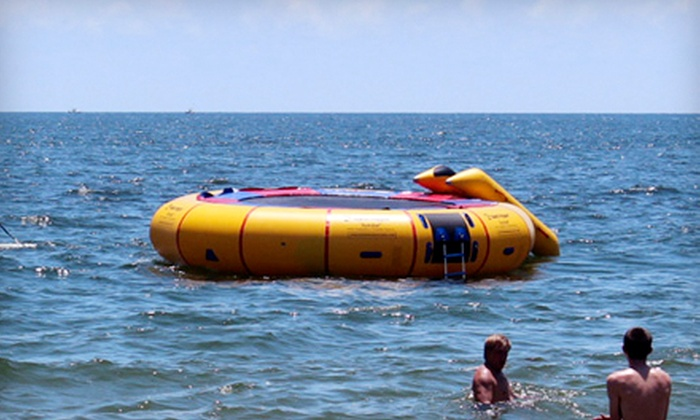 On the Beach Watersports - On The Beach Water Sports & Jet Ski Rental: $39 for a 30-Minute Water-Trampoline Session for Five at On the Beach Watersports ($100 Value)