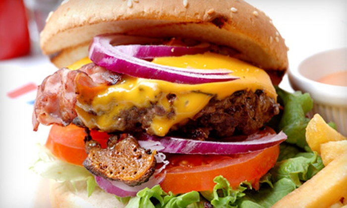 The Tie Dye Grill - East Gate: $16.50 for Two Groupons, Each Good for $15 Worth of American Food at The Tie Dye Grill ($30 Total Value)
