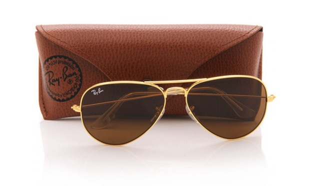 ray ban aviator golden tan sunglasses