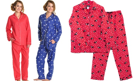 Angelina 100% Cotton Flannel Women's Pajama Set
