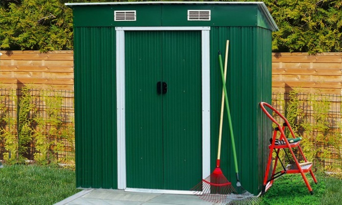 Beautiful ... Groupon Goods Global GmbH: Garden Sheds In Choice Of Colour And Size  From £179.99 ...