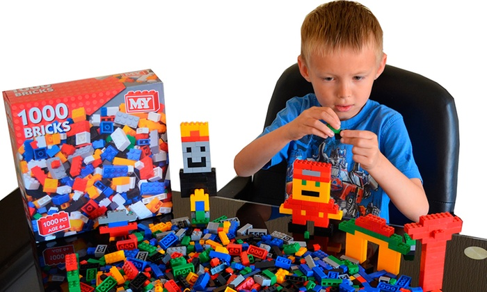 1000 LEGO-Compatible Toy Bricks | Groupon Goods