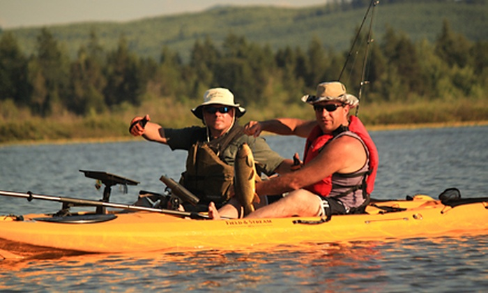 Sasquatch Adventures - Northeast Cowlitz: Kayaking Adventures with Options for Fishing and Wine Tasting from Sasquatch Adventures (Up to 51% Off)