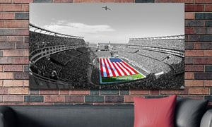Touch of Color Football Stadium Gallery-Wrapped Canvas Print