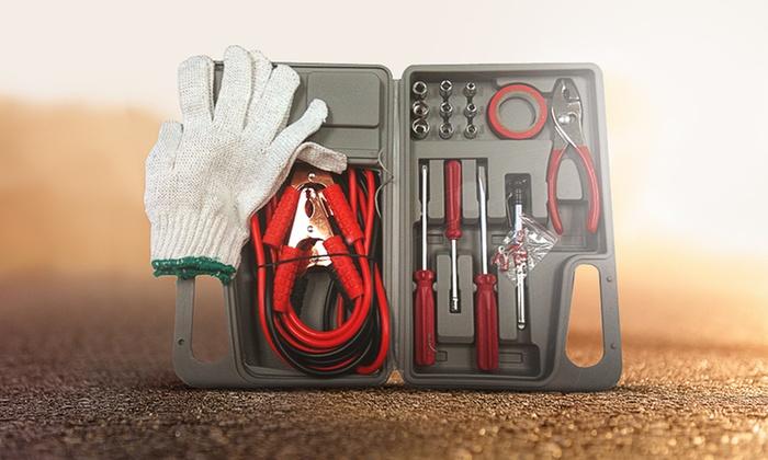 31-Piece Roadside Emergency Kit: 31-Piece Roadside Emergency Kit. Free Returns.