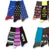 Design Lab 12-Pack of Men's Colorful Patterned Casual Crew Socks