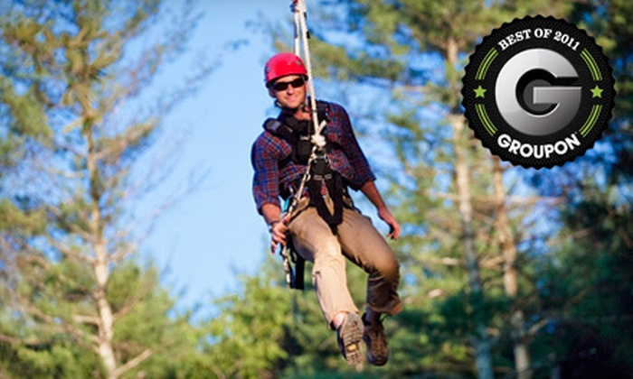 The Beanstalk Journey at Catawba Meadows - Morganton: $59 for a Zipline Tour and Ropes Course for Two at The Beanstalk Journey at Catawba Meadows in Morganton ($138 Value)