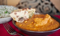 Three or Six Curry Dishes with Rice and Naan for Two or Four at Ushas East Kilbride (Up to 63% Off)