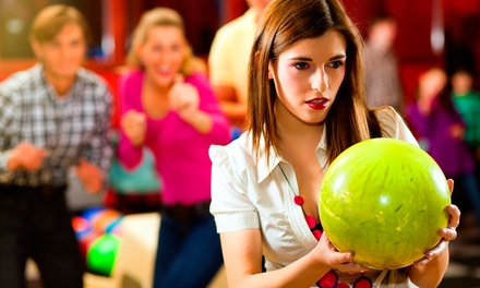 Bowling, Shoe Rentals, Arcade Games, and Laser Tag at Pinz Entertainment (50% Off). Two Options Available.