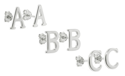 Sterling Silver Initial Earrings. Multiple Initials Available.