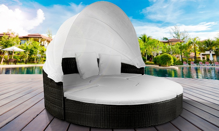 sonneninsel aus polyrattan groupon goods. Black Bedroom Furniture Sets. Home Design Ideas