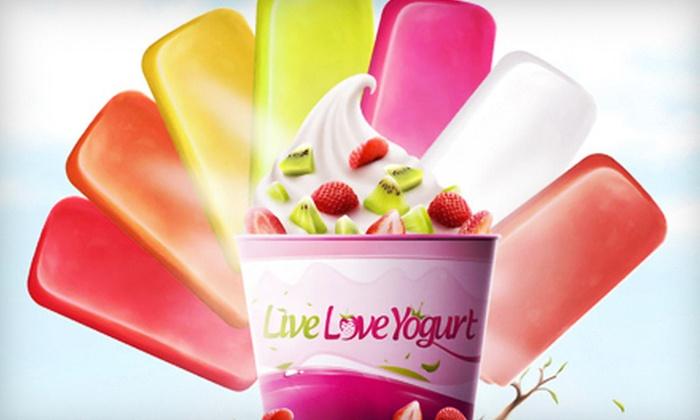 Live Love Yogurt - Universal Plaza: $10 for a $20 Gift Card to Frozen Yogurt at Live Love Yogurt in Lauderhill