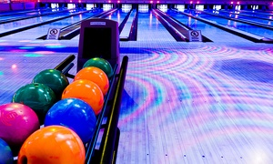 Jupiter Bowl: $29 for 90 Minutes of Bowling with Shoe Rental & Tokens for Up to 6 at Jupiter Bowl (Up to $153 Value)