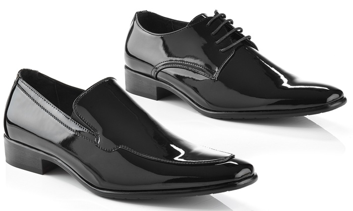 Adolfo Men's Patent-Leather Tuxedo Dress Shoes