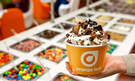 One or Three Groupons, Each Good for $10 Worth of Frozen Yogurt at Orange Leaf (50% Off)