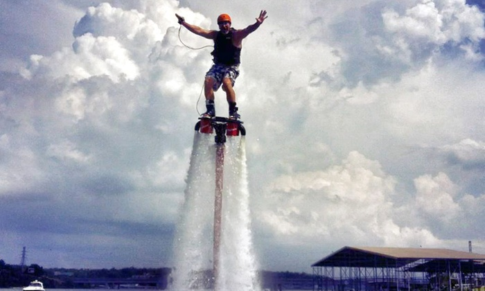 Sky Surf Ozarks - Lake Ozark: Flyboarding Experience for One, Two, or Four at Sky Surf Ozarks (Up to 46% Off)