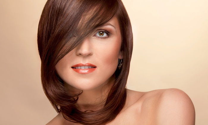 Edessa's Hair Salon - Evanston: Haircut with Blow-Dry and Optional Conditioning or Partial or Full Highlights at Edessa's Hair Salon (Up to 62% Off)