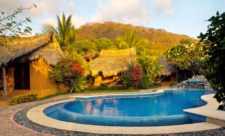 groupon daily deal - 4- or 5-Night Stay in a Poolside Ocean-View Bungalow for Two at The Inn at Manzanillo Bay in Troncones, Mexico
