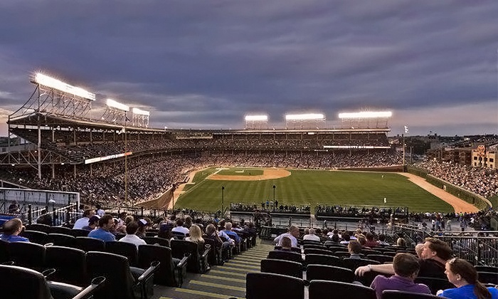 Chicago Cubs - Wrigley Field Rooftop Club: Rooftop View of a Chicago Cubs Game at Wrigley Field Rooftop Club (Up to 65% Off). 12 April Games Available.