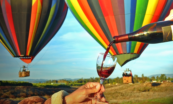 Uncorked Tours - Temecula: $264 for a Sunrise Balloon Flight for Two or Four-Hour Winery Tour for Two at Uncorked Tours ($438 Value)