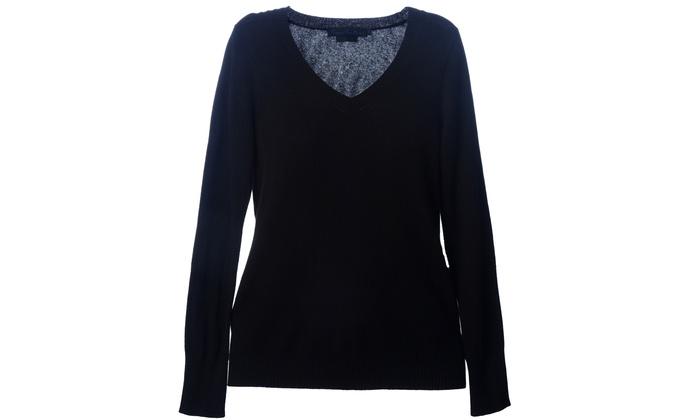 Enzo mantovani ladies 39 cashmere sweaters groupon for Enzo mantovani