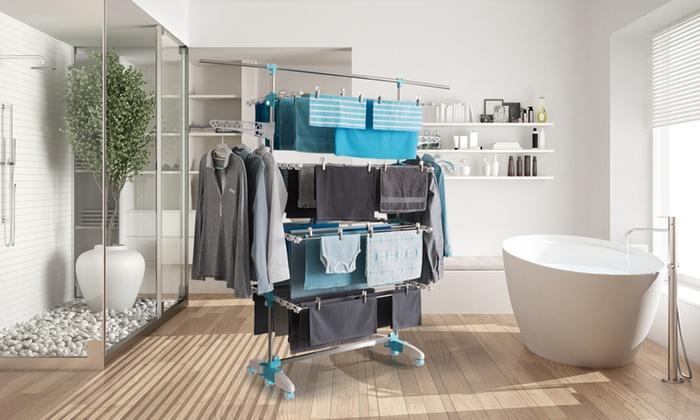 Groupon Goods Global GmbH: Séchoir Edition Platinium 4 niveaux, 30 mètres d'étendage