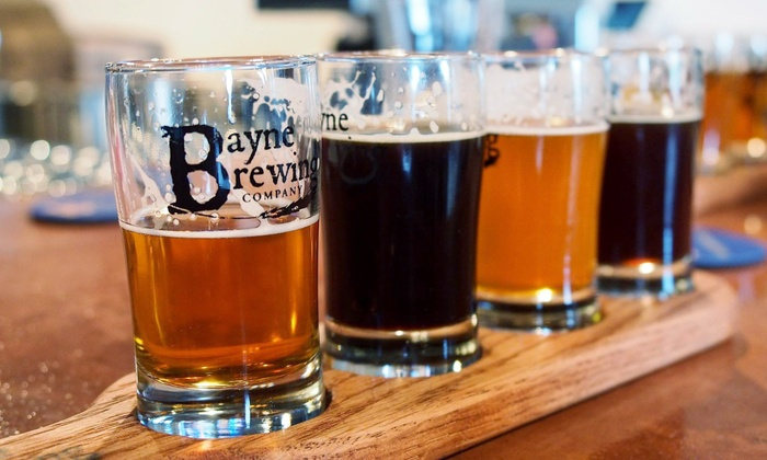 Bayne Brewing Company - Cornelius: Beer Flights and Growlers with Fills for Two or Four at Bayne Brewing Company (Up to 41% Off)