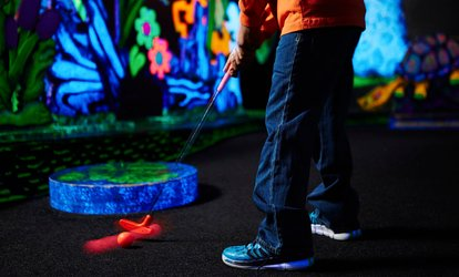Round of Mini Golf for Two, Four, or Eight with Slices of Pizza at Tiki's Family Fun Center (Up to 53% Off)