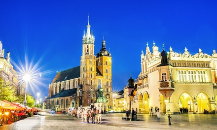 ✈ Krakow: 2 or 3 Nights with Wine, Return Flights and Option for Tour at 4* Sympozjum Hotel