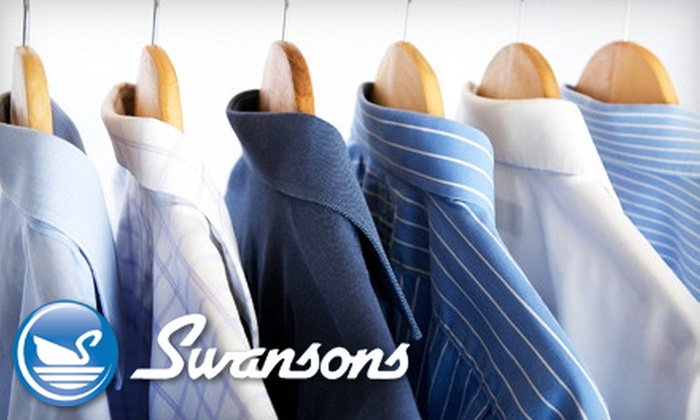 Swanson's Cleaners - Multiple Locations: $10 for $20 or $20 for $40 Worth of Dry Cleaning at Swanson's Cleaners