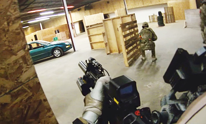 Mach1airsoft Indoor Arena - Toronto: Airsoft for One, Two, or Four with Equipment at Mach1airsoft Indoor Arena (Up to 54% Off)