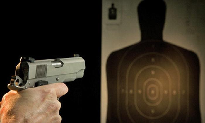 Dead Center Indoor Gun Range - Edinburgh: Gun-Range Package for Two or Four or 10 One-Hour Lane Rentals at Dead Center Indoor Gun Range in Buford (Up to 63% Off)