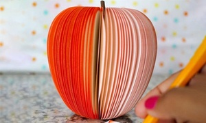 3D Apple Teacher Notepad Memo (1- or 2-Pack)