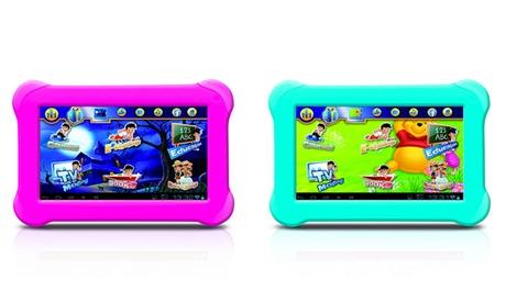 Tablet Ircom da 7 pollici per bambini e adulti con cover protettiva in silicone. Vari colori disponibili